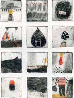 Matild Gros, dry point and collagraph