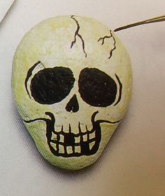 skeleton painted rock - Google Search