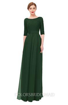 0ebb3ac424 ColsBM Lola Bridesmaid Dresses Zip up Boat A-line Half Length Sleeve Modest  Lace