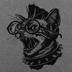 Punk Cat T-Shirt by 6 Dollar Shirts. Thousands of designs available for men, women, and kids on tees, hoodies, and tank tops.