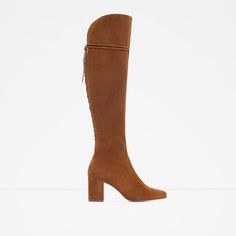 HIGH HEEL LEATHER BOOTS WITH LACES-View all-Shoes-WOMAN | ZARA United States