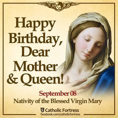 And I will be a father to you and you shall be sons and daughters to Me, says the Lord Almighty. Mother Mary Quotes, Mother Mary Images, Blessed Mother Mary, Divine Mother, Blessed Virgin Mary, Virgin Mary Birthday, Happy Birthday Mama Mary, Mother Birthday, Queen Birthday
