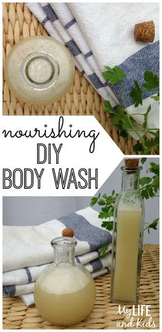 Make your own body wash with four simple, easy-to-find ingredients. Natural, nourishing, and refreshing!
