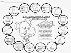 FREEBIE:  If You Give A Mouse A Cookie Story Sequencing......free color and black and white printables. fairytalesandfictionby2.blogspot.com