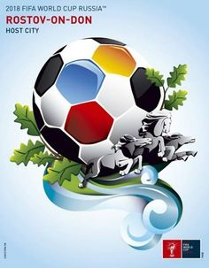 Poster of Rostov, FIFA World Cup 2018 host city. Russia 2018.