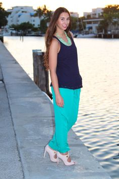Navy & Teal~ New On BisousBrittany.com #fashion #style #miami #fashionblogger #navy #teal