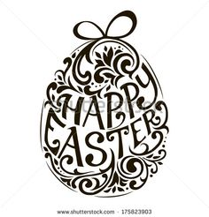 Happy easter text vector Free vector for free download about (19 ...