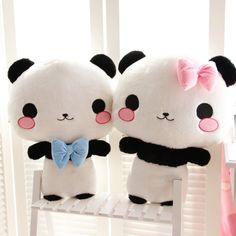 Aliexpress.com: Comprar Amantes de la panda panda peluche de juguete muñeca de dibujos animados almohada cojín novia de regalo de cumpleaños 60x45 cm de almohada percha confiables proveedores de John's retail store.