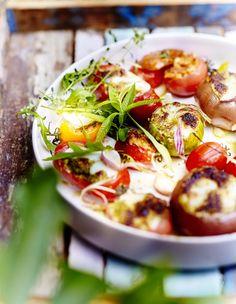 Légumes farcis mozzarella parmesan pour 6 personnes - Recettes Elle à Table