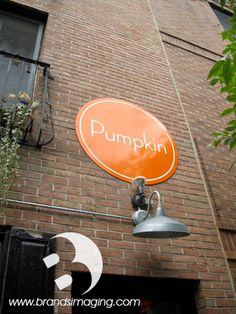 Exterior signage for Pumpkin restaurant in Philadelphia. Whatever your sign needs may be, Brands Imaging can create a custom solution for you & your business.