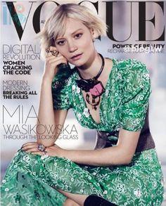 Mia Wasikowska a  Alice do pais das maravilhas, Vogue Australiana capa
