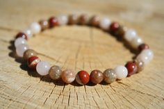 Higher self and soul bracelet : Red Jasper, Pink Aventurine, Unakite. How To Measure Yourself, Protection Stones, Crystal Meanings, Red Jasper, Heart Chakra, Semi Precious Gemstones, True Love, Just For You, Beaded Bracelets