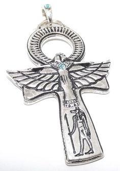 Large Egyptian Ankh (Silver Plated) Pewter Pendant | eBay