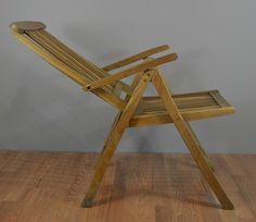 Solid Teak Wood Outdoor Recliner Chair