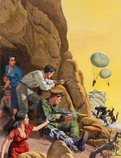 Mort Künstler – Page 12 – Pulp Covers Pulp Fiction Characters, Pulp Fiction Comics, Pulp Fiction Book, Movie Poster Art, Pulp Art, Military Art, Retro Art, Magazine Art, Graphic Illustration