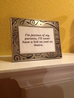 Fun quote printed on burlap and beautifully framed by DesignPerspective.