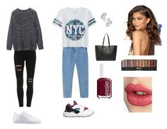 """I love ❤️"" by ndlpacha on Polyvore featuring Toast, Aéropostale, NIKE, Topshop, Yves Saint Laurent, Essie and Charlotte Tilbury"
