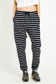 BDG Sweat Pants in Stripe Print