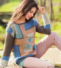 Пуловер в стиле пэчворк http://hitsovet.ru/pulover-v-stile-pechvork/