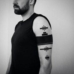 Amazing abstract futuristic tattoo