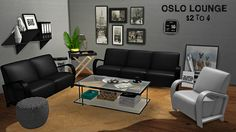 Sims 4 CC's - The Best: TS2 Oslo Lounge Conversion by Leo4Sims
