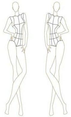 Female Fashion Croquis Templates   Female Fashion Figure 046