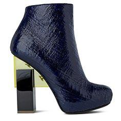 NICHOLAS KIRKWOOD FOR ERDEM Grain-effect ankle boots