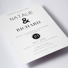 Simplicity...I'd match the name fonts though. love this invite, the wording too