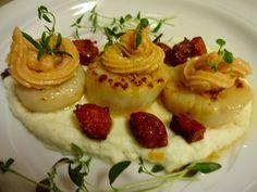 Edel's Mat & Vin : Kamskjell med blomkålpuré, chorizo & Melbu kaviar ...