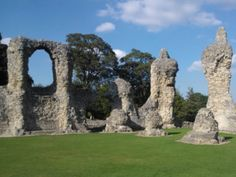 The ruins of Bury St Edmunds Abbey - in 1214, the Archbishop of Canterbury and 25 barons swore at the high altar that they would make King John sign the charter that would become Magna Carta.