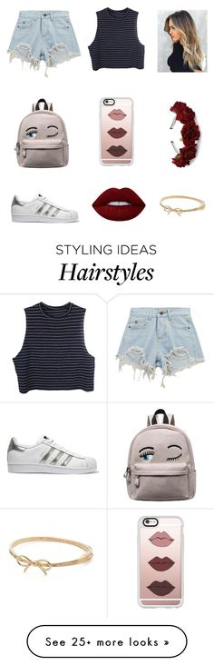 """""""Untitled #223"""" by niniber002 on Polyvore featuring Chicnova Fashion, adidas Originals, Casetify, Lime Crime and Kate Spade"""