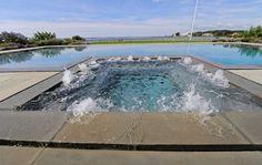 Infinity Edge Negative Edge Rimless Pools contemporary-pool