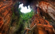 Temple Deep In The Caves, Borneo, Indonesia Very Nice Interesting Place To Visit ...