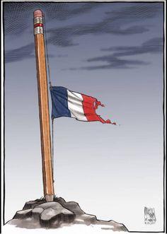 http://www.elle.fr/Societe/News/Charlie-Hebdo-les-illustrateurs-du-monde-entier-rendent-hommage-au-journal/Bruce-A-McCoubrey-illustrateur-americain #jesuischarlie #CharlieHebdo