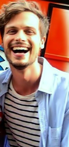 Matthew Gray Gubler. Most beautiful smile EVERRR. Seriously. Plus he's a goof artistic. he's smart which is a huge plus.