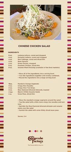 Cheesecake Factory Chinese Chicken Salad
