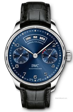 IWC - Portugieser Annual Calendar. New complication powered by the new IWC-manufactured 52850 calibre.