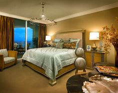07 Warm Modern Highrise Master Bedroom