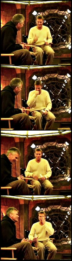"""Rick and Michael during a behind the scenes interview for """"Abyss"""""""