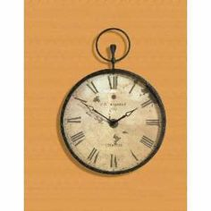 Old World Pocket Watch Inspired Wall Clock with Roman