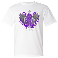 Make a strong impression for Epilepsy Awareness with our stand-out tattoo style design on shirts #Epilepsyawareness #Epilepsyribbon #Epilepsytshirts
