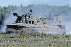 """PACV """"Patrol Air Cushion Vehicle"""" in Vietnam."""