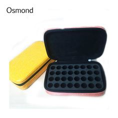 2017 Fashion 32 Bottles 2ML Essential Oil Carrying Case Make Up Bag Storage For Traveling Cosmetic Bag Leather Case
