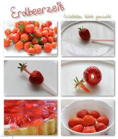 Erdbeeren entstielen leicht gemacht