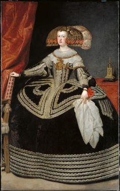 Mariana de Austria (1634 - 1696), Reina consorte de las Españas y de las Indias / By Diego de Silva Velázquez, 1652.