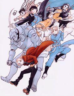 Beautiful artwork by Hiromu Arakawa Manga Anime, Me Anime, Fanarts Anime, Edward Elric, Fullmetal Alchemist Brotherhood, Tokyo Ghoul, Fairy Tail, Elric Brothers, Hiromu Arakawa