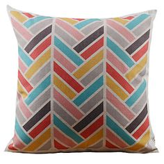 Leaning+Colorful+Stripe+Decorative+Pillow+Cover+–+USD+$+11.99