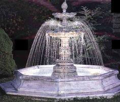 Cast Stone Garden Fountains Large Garden Fountain Monumental Fountain  Estate Fountain