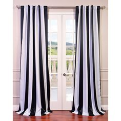 Awning Black/ White Stripe Blackout Curtain Panel - Overstock™ Shopping - Great Deals on EFF Curtains