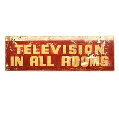 """Las Vegas Motel """"Television In All Rooms"""" Sign"""
